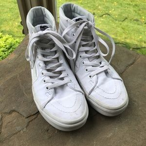 Vans Shoes - White sk8-hi vans